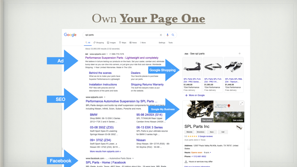 Own Your Page One with SEO